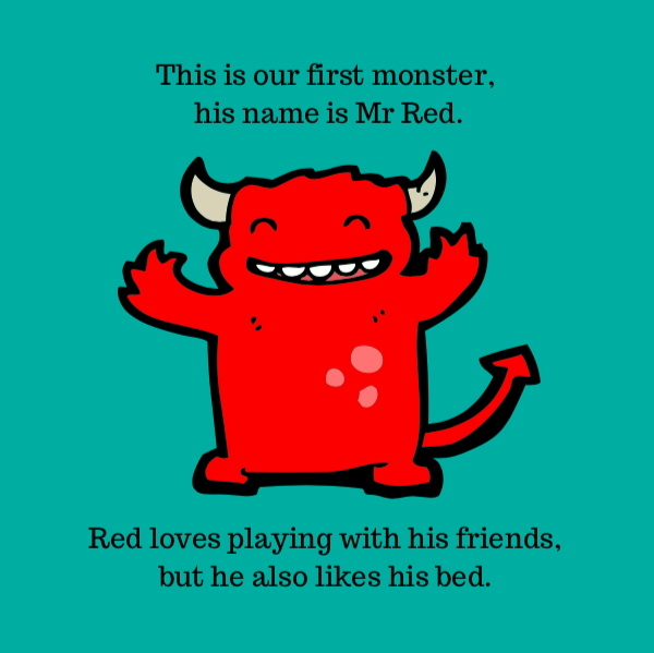 Mr Red from The Colour Monsters by Anna Styles